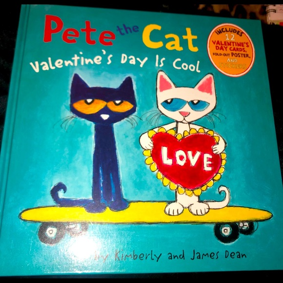 Pete the Cat book Valentine's Day is cool